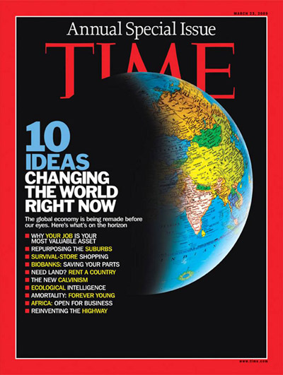 TIME cover dd 23 maart 2009