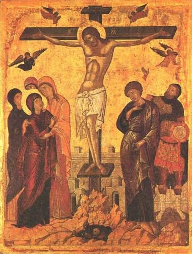 Icoon: de kruisiging van Jezus