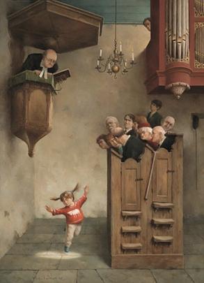 Dansje in de kerk - Marius van Dokkum
